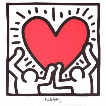 Bundle- 2 Assorted Keith Haring Hearts Posters