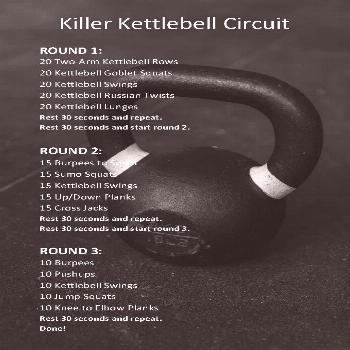 Full Body Kettlebell Circuit Workout | Experimenten in wellness