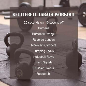 Kettlebell Tabata Workout | Experiments In Wellness -  Home workouts | Interval workouts | Tabata W
