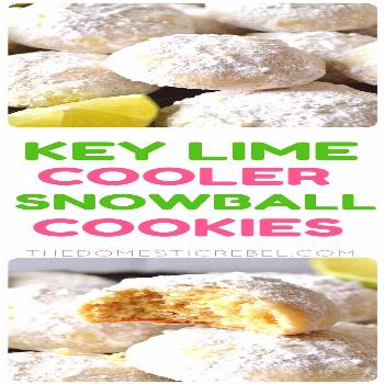 Key Lime Cooler Snowball Cookies These Key Lime Cooler Snowball Cookies are a fantastic update to a