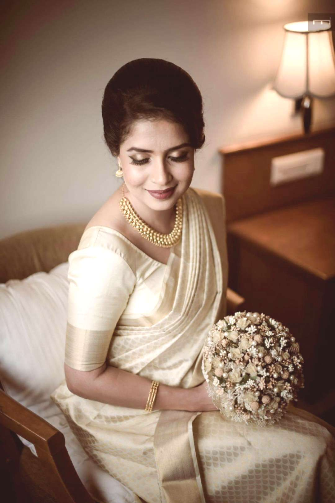 Image result for bridal white saree collection